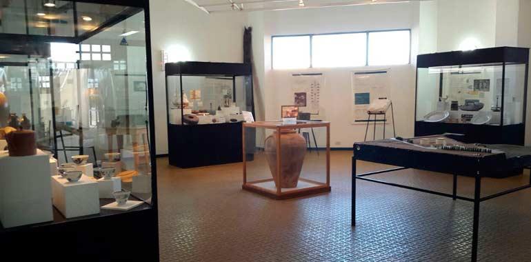 Exhibición de piezas rescatadas por arqueólogos subacuáticos de la Corbeta Swift
