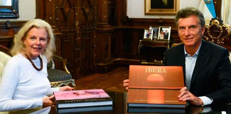 Mauricio Macri  y Kris Tompkins - Enero de 2016