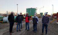 Autoridades del Instituto de Energía recorrieron las instalaciones de SINOPEC en Cañadón Seco