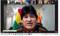 El Rector de la UNPSJB, participó de un encuentro por videoconferencia con Evo Morales