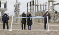 Se inauguró una nueva línea de alta tensión en Caleta Olivia por parte de YPF junto al Gobierno de Santa cruz